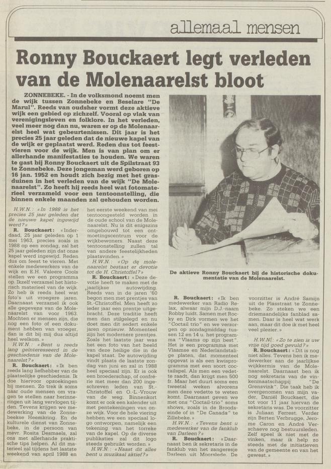 wekelijks nieuws 08-01-1988