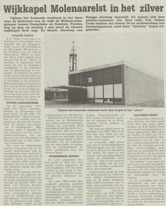wekelijks nieuws 29 -04-1988